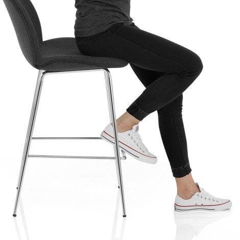 Bella Bar Stool Charcoal Fabric Seat Image