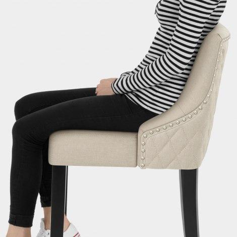 Bentley Bar Stool Cream Fabric Seat Image