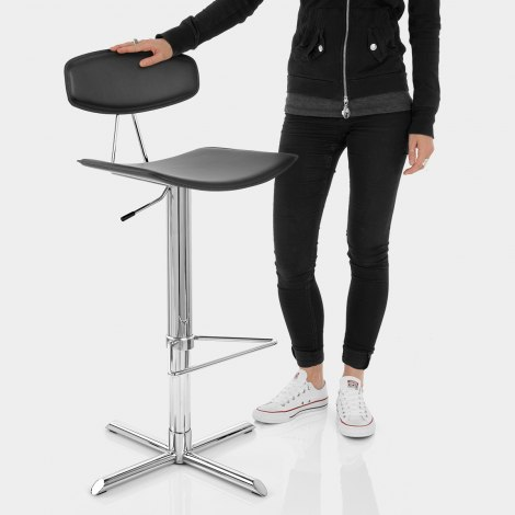 Blade Bar Stool Black Features Image