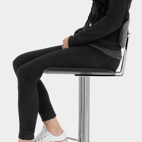 Blade Bar Stool Black Seat Image