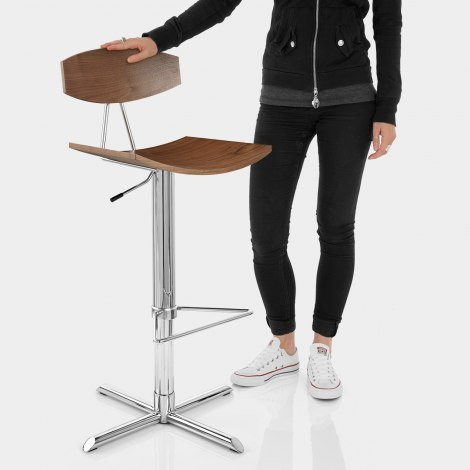 Blade Bar Stool Walnut Features Image