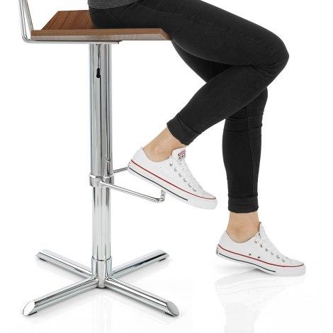 Blade Bar Stool Walnut Seat Image