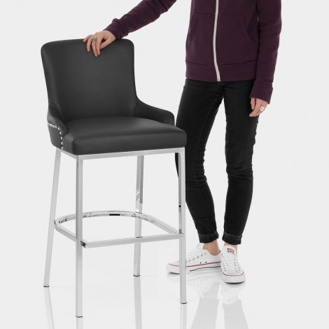 Bliss Bar Stool Black Features Image