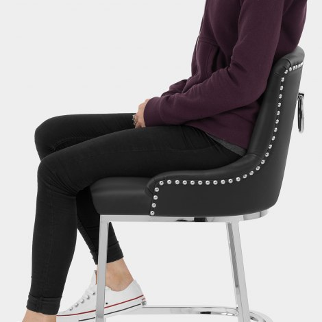 Bliss Bar Stool Black Seat Image