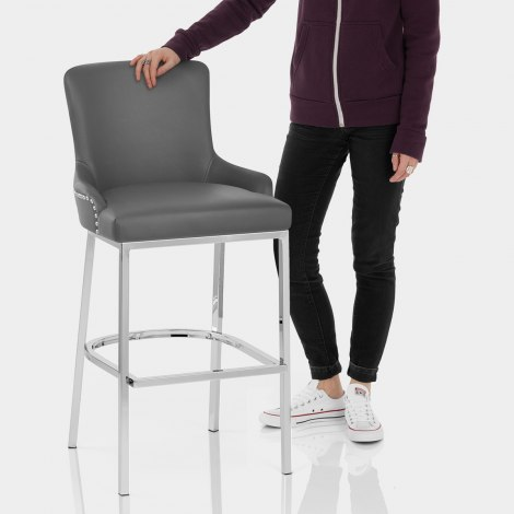 Bliss Bar Stool Grey Features Image