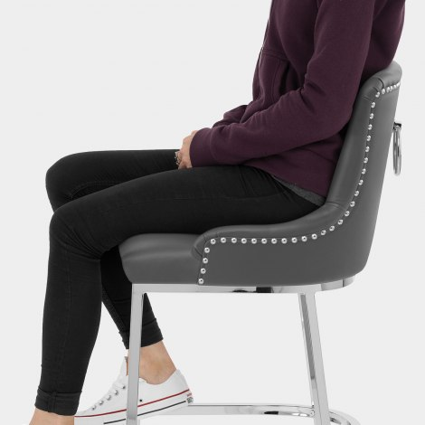 Bliss Bar Stool Grey Seat Image