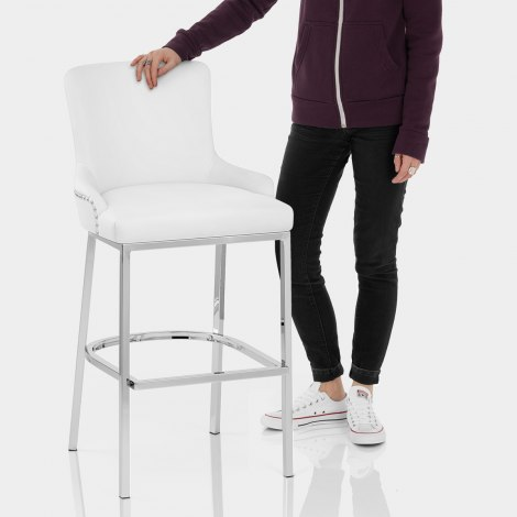 Bliss Bar Stool White Features Image