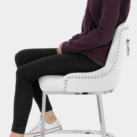 Bliss Bar Stool White Seat Image