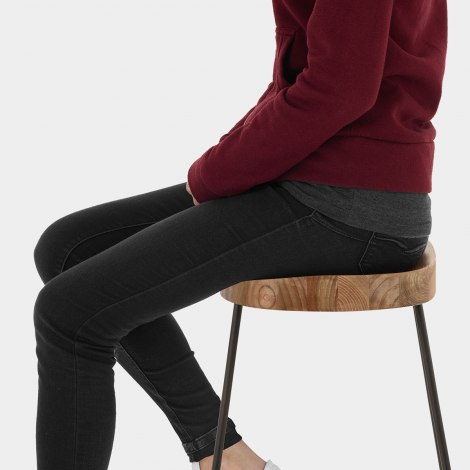 Bloc Stool Light Wood Seat Image