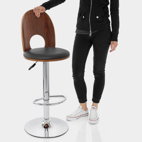Bolero Wooden Stool Black Features Image