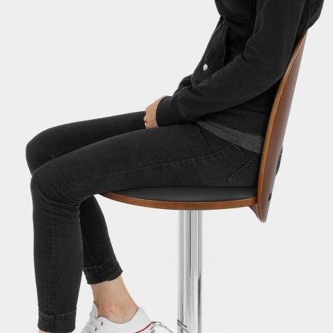 Bolero Wooden Stool Black Seat Image