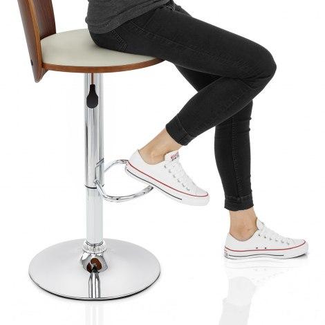 Bolero Wooden Stool Cream Seat Image