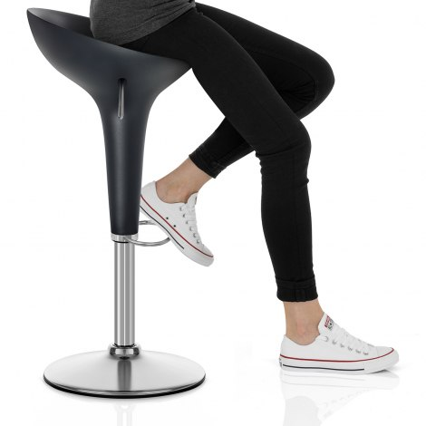 Bombo Bar Stool Black Seat Image