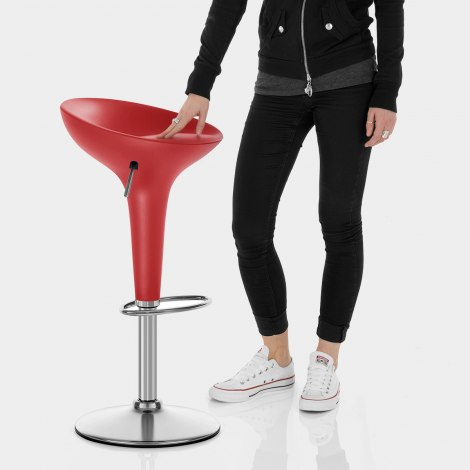 Bombo Bar Stool Red Features Image