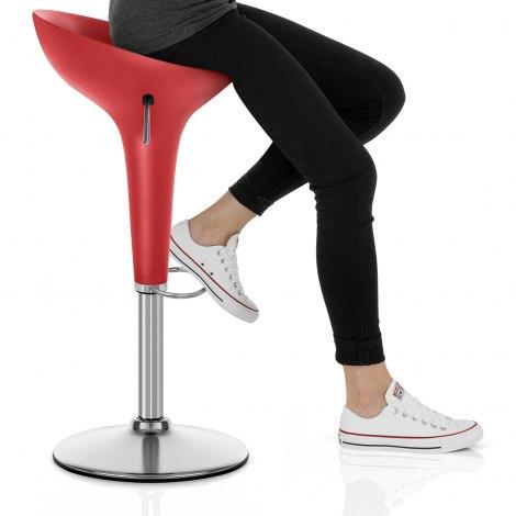 Bombo Bar Stool Red Seat Image