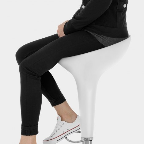 Bombo Bar Stool White Seat Image