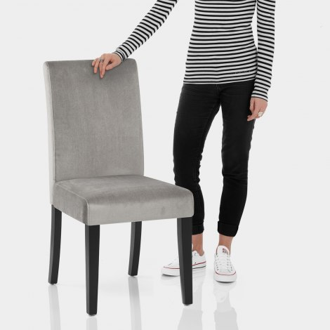 Boston Dining Chair Grey Velvet Features Image