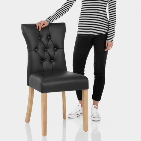 Bradbury Oak Dining Chair Black Features Image