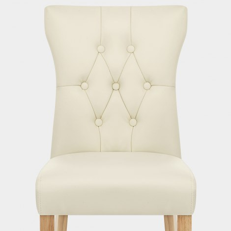 Bradbury Oak Dining Chair Cream Seat Image