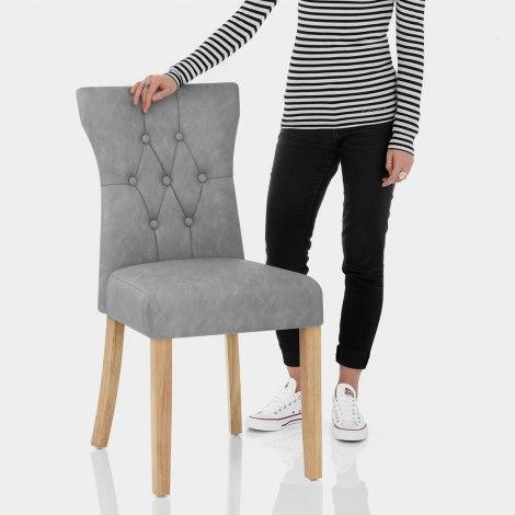 Bradbury Oak Dining Chair Grey Features Image