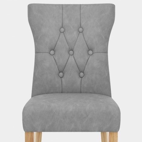 Bradbury Oak Dining Chair Grey Seat Image
