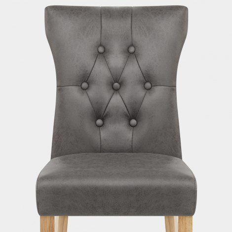 Bradbury Oak Dining Chair Grey Seat Image