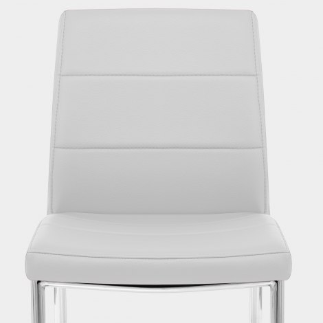 Chrome Breakfast Dining Chair Grey Seat Image