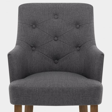 Broadway Oak Chair Charcoal Fabric Seat Image