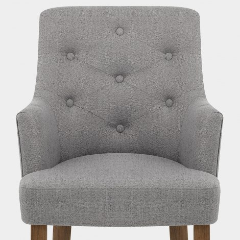 Broadway Oak Chair Grey Fabric Seat Image