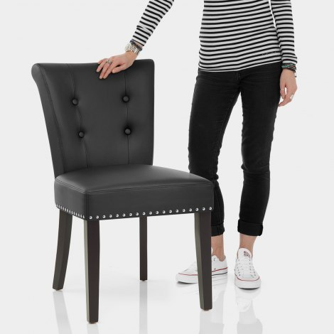 Buckingham Dining Chair Black Leather Features Image