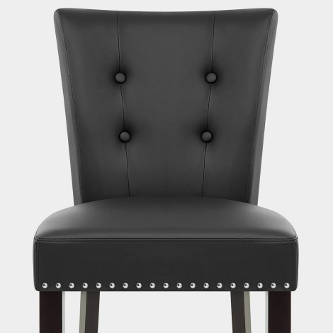 Buckingham Dining Chair Black Leather Seat Image