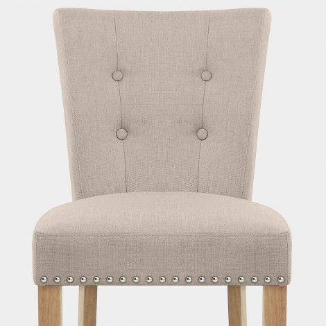 Buckingham Dining Chair Oak & Tweed Fabric Seat Image