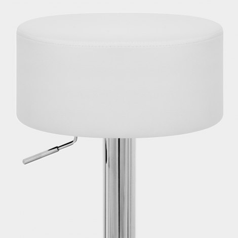 Bullet Stool White Seat Image
