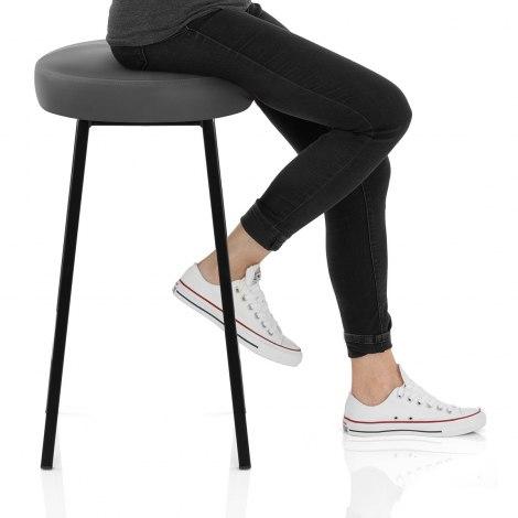 Buzz Bar Stool Grey Seat Image