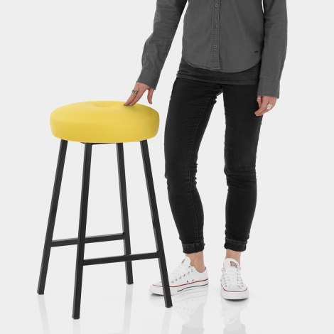 Buzz Bar Stool Yellow Features Image