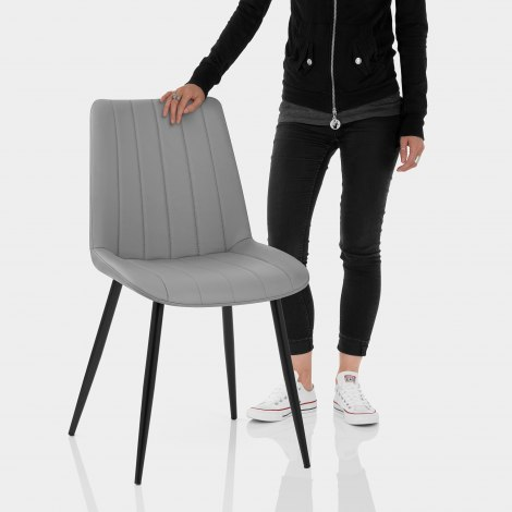 Camino Dining Chair Mid Grey Features Image