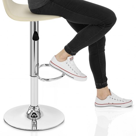 Cap Chrome Stool Cream Frame Image