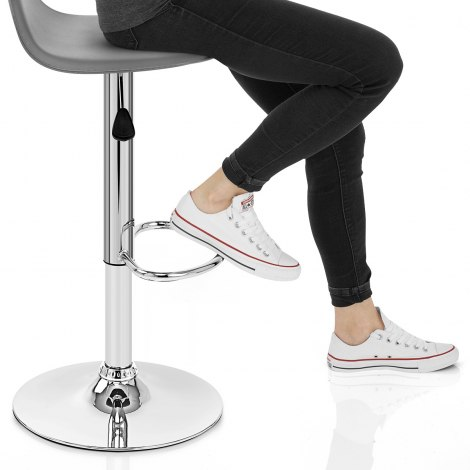 Cap Chrome Stool Grey Seat Image