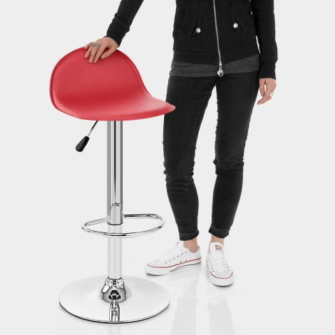 Cap Chrome Stool Red Features Image