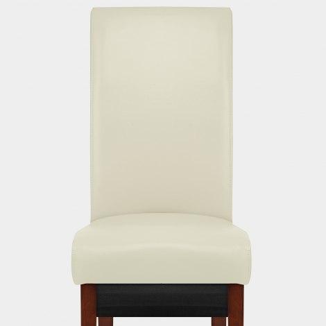 Carlo Walnut Chair Cream Leather Seat Image