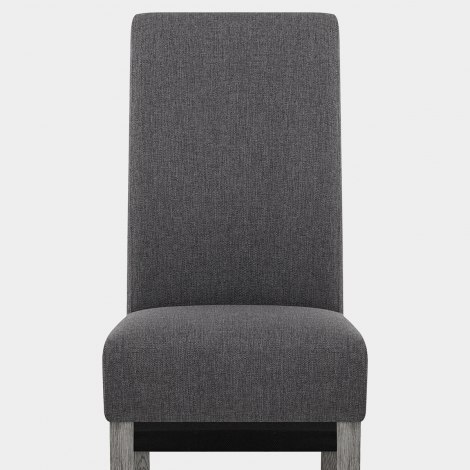 Carlo Grey Oak Chair Charcoal Fabric Seat Image
