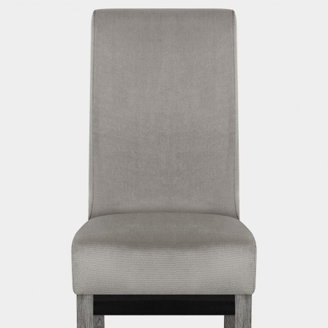 Carlo Grey Oak Chair Grey Velvet Seat Image