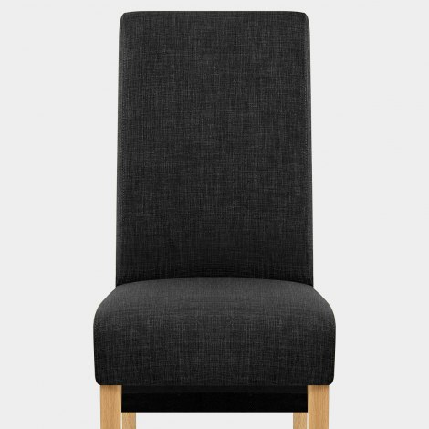 Carlo Oak Chair Charcoal Fabric Seat Image