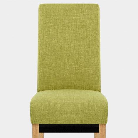 Carlo Oak Chair Green Fabric Seat Image