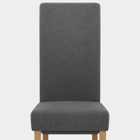 Carolina Dining Chair Charcoal Fabric Seat Image