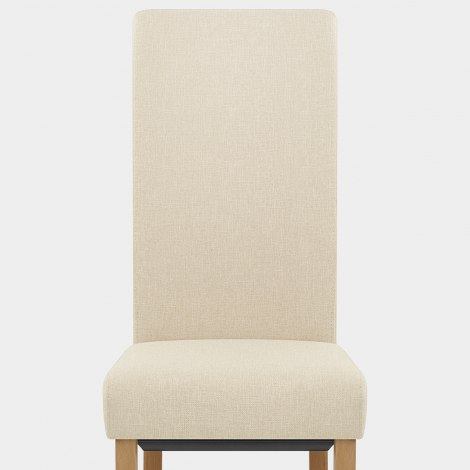 Carolina Dining Chair Cream Fabric Seat Image