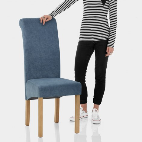 Carolina Dining Chair Denim Blue Features Image