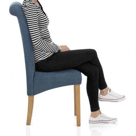 Carolina Dining Chair Denim Blue Seat Image