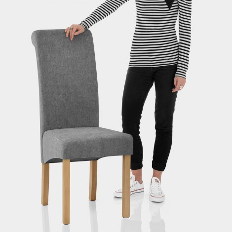 Carolina Dining Chair Grey Fabric Features Image