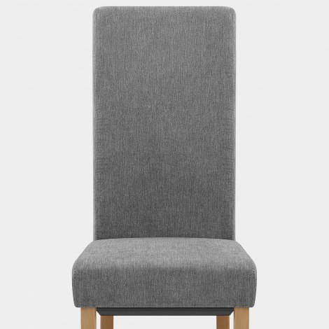 Carolina Dining Chair Grey Fabric Seat Image